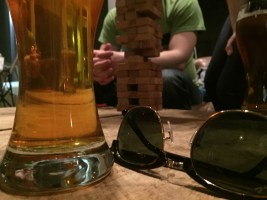 Jenga and Rapunzel (beer) at Arcadia