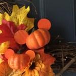 Diy Fall Mickey Wreath Wanderings And Wonderings