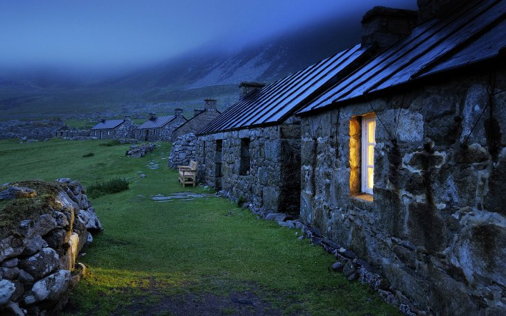 A row of houses in Scotland