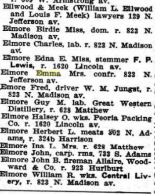 ina l elmore listed
