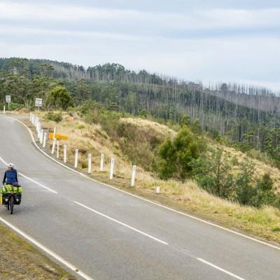 Mount Tassie australia cycle touring