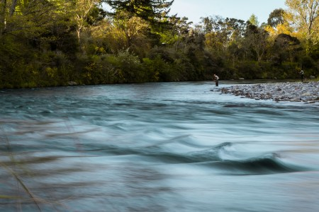 Fly fishing Tongariro River, trout, brown, rainbow, New Zealand