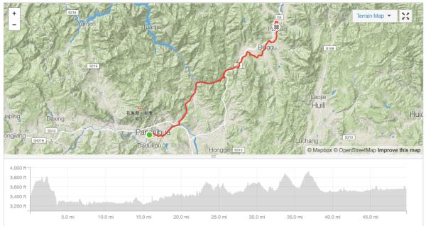 Panzhihua to Panlian (Miyi) cycle route Strava