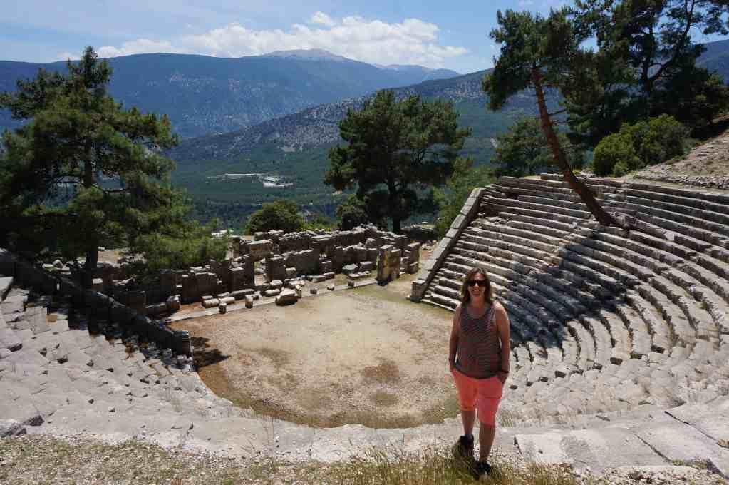 Visiting Arykanda amphitheatre is a great day trip from Kas
