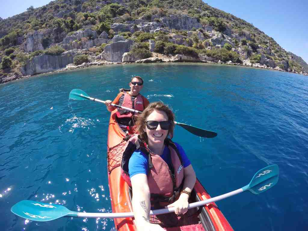 A brilliant day trip from kas is kayaking over the sunken city of kekova