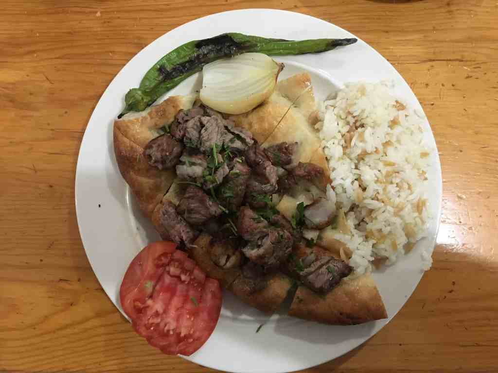 Kebab is typical Turkish cuisine