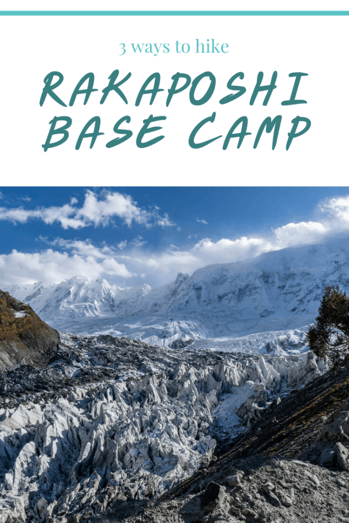 How to hike Rakaposhi Base Camp. In this guide I provide three different options for hiking to Rakaposhi Base Camp including distances, elevations and trail descriptions