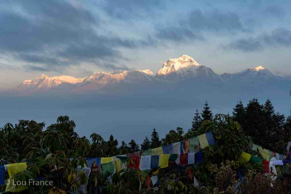 A view of Dhaulagiri peak from Poon Hill