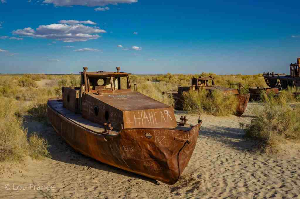 The ship graveyard in Moynaq is one of the top places to visit in Uzbekistan