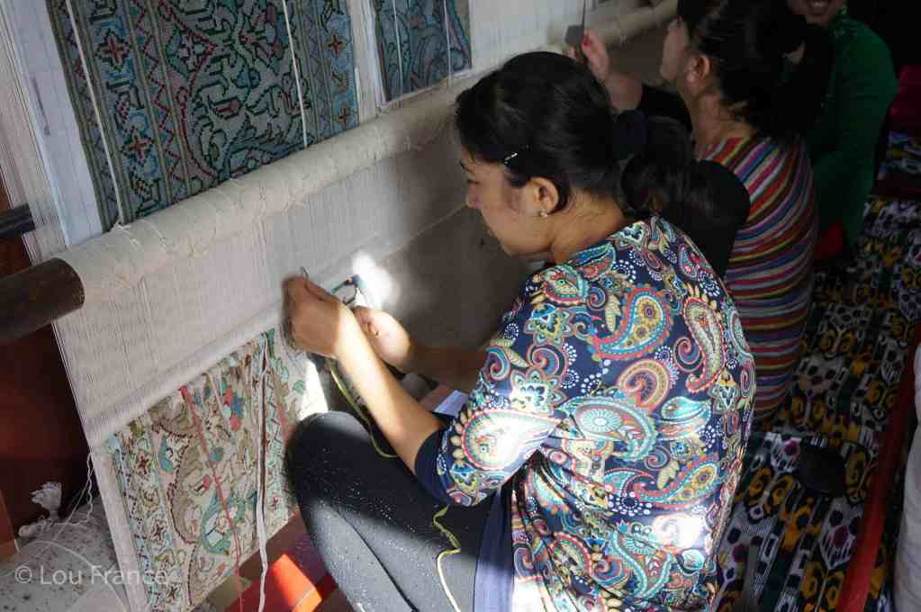 Silk weaving is a great thing to see in Uzbeksistan