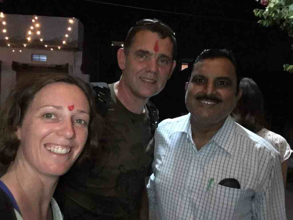 Celebrating Diwali with our hotel owner