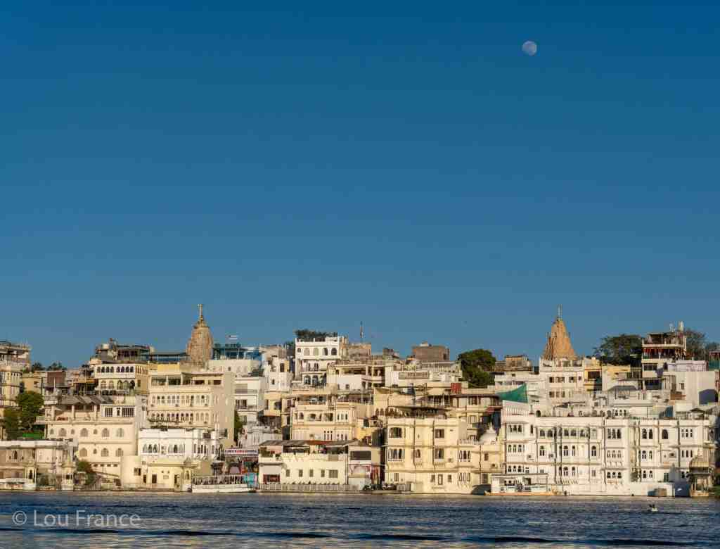 Finish your 1 day Udaipur itinerary with sunset overlooking the old city
