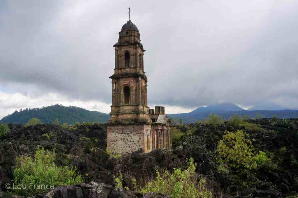 The buried church near Angahuan, Mexico