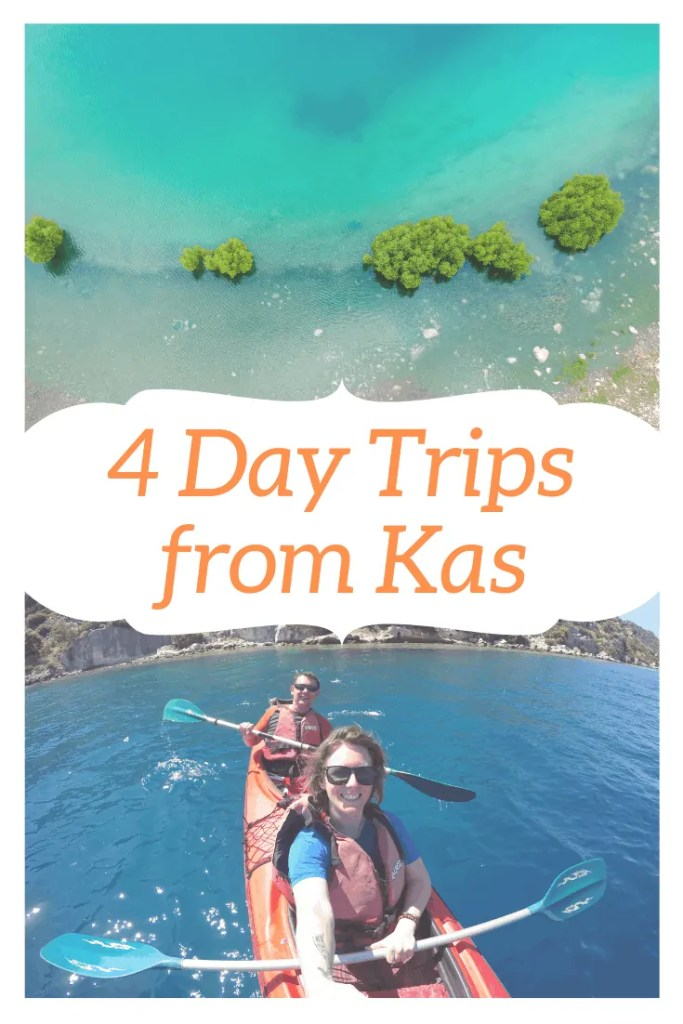 A guide to four different day trips from Kas, a town on the Turquoise Coast of Turkey. Discover the best ways to get there and how much it will cost.