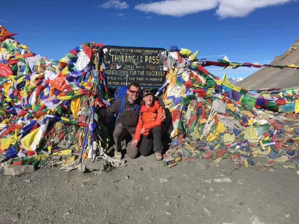 Traditional photo at Thorong La Pass