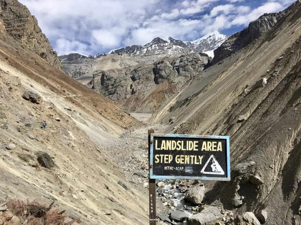 The Annapurna circuit trail to Thorong Phedi