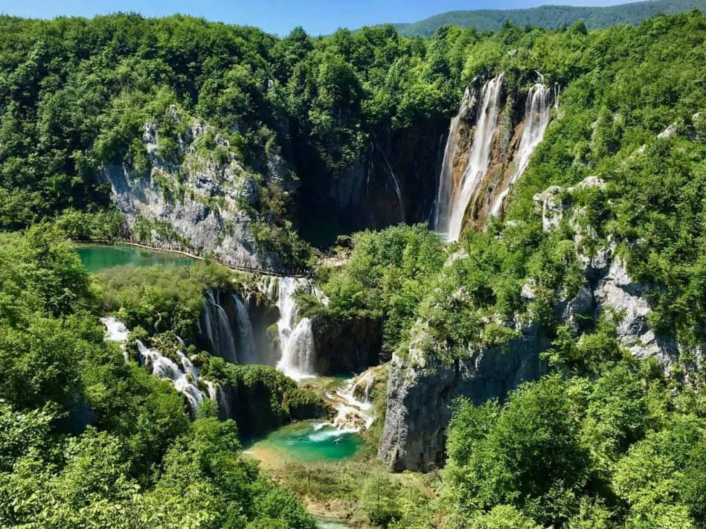 Plitvice waterfall is one of the most beautiful waterfalls around the world