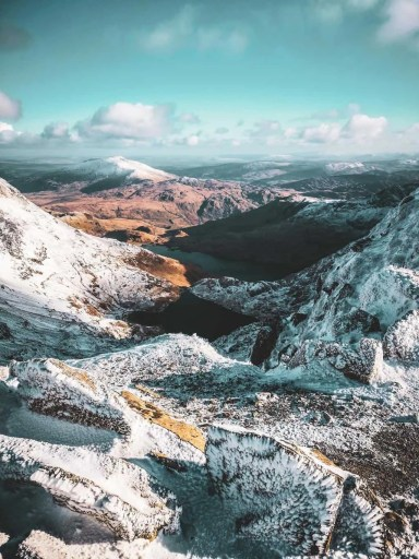 Snowdon is an epic mountain winter hike in the UK