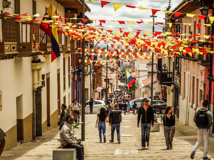 Travel the colorful streets of Bogota