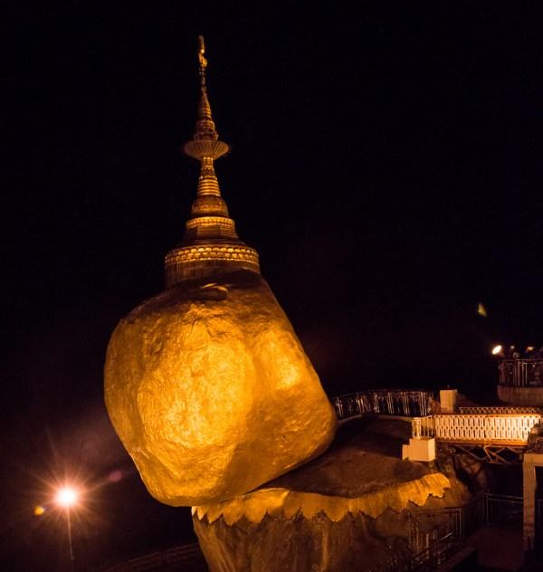 Night at the Golden Rock, Mt. Kyaiktiyo, Myanmar