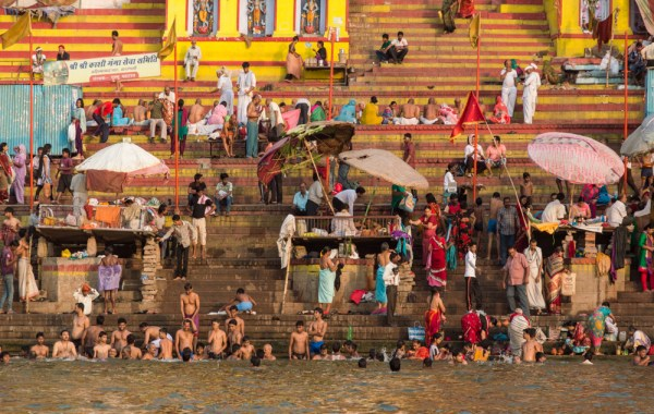 Bathing in the Ganges River, Varanasi, India