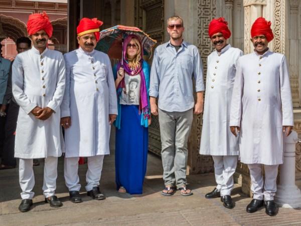 Guards at the City Palace, Jaipur, India