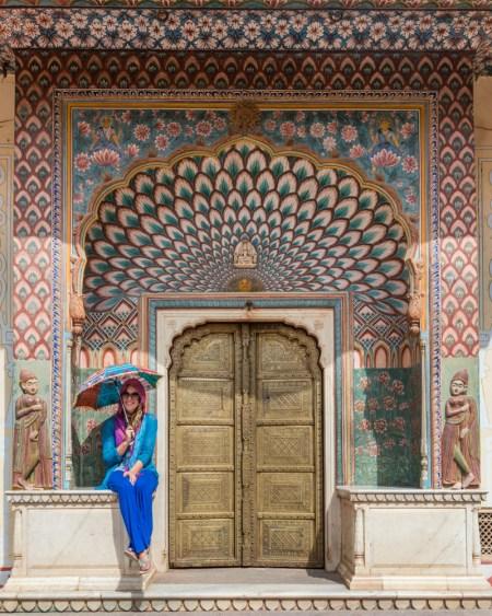 Lotus Gate at the City Palace, Jaipur, India