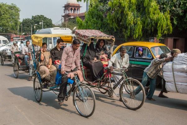 Rickshaws in New Delhi, India