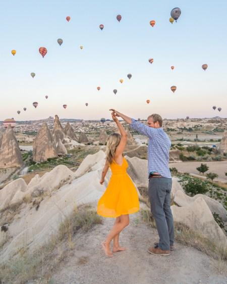 Dancing Under Hot Air Balloons in Cappadocia, Turkey by Wandering Wheatleys