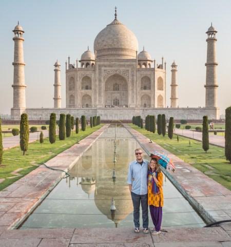 Sunrise at the Taj Mahal by Wandering Wheatleys