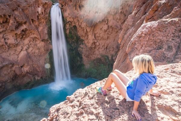 Overlook of Mooney Falls, Havasu Canyon, Arizona by Wandering Wheatleys