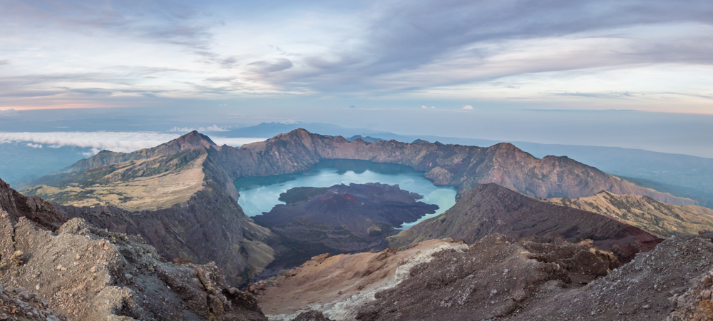 Agung Rinjani at Sunrise, Lombok, Indonesia by Wandering Wheatleys