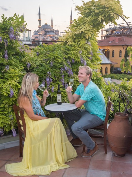 Roof top at Hotel Empress Zoe in Istanbul, Turkey by Wandering Wheatleys