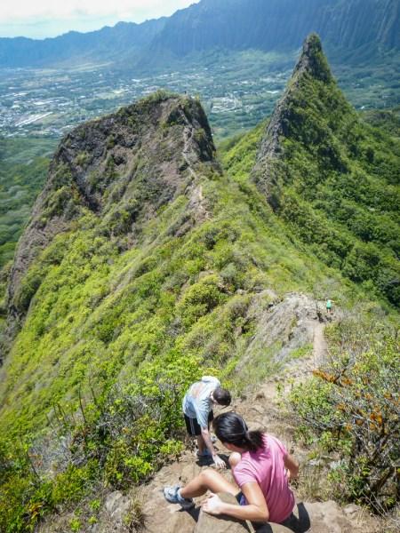 Hiking the 3 PEaks of Olomana in Oahu, Hawaii By Wandering Wheatleys