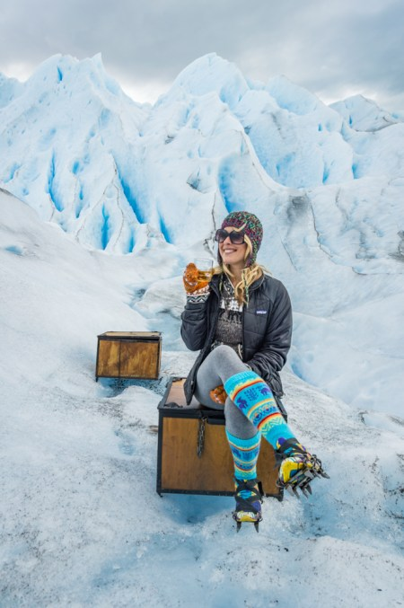 Whiskey & Glacier Ice in Perito Moreno, Argentina by Wandering Wheatleys