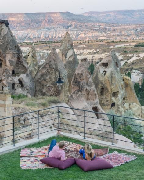 Sunset a Taskonaklar Hotel, Cappadocia, Turkey