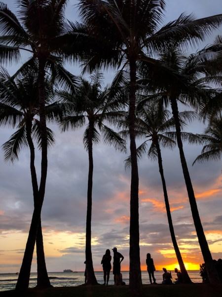 Sunset in Waikiki, Honolulu, Hawaii by Wandering Wheatleys
