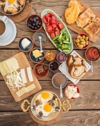 Turkish Breakfast at Taskonaklar Hotel, Cappadocia, Turkey by Wandering Wheatleys