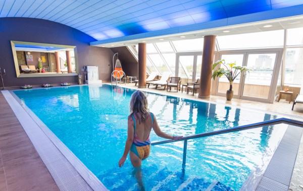Swimming Pool at the Grand Union Hotel, Ljubljana, Slovenia by Wandering Wheatleys