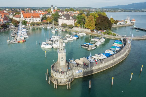 Lindau Harbor, Lake Bodensee, Germany by Wandering Wheatleys