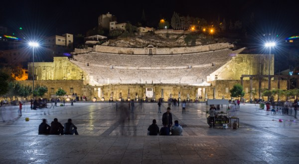 Roman Theater at Night, Amman, Jordan by Wandering Wheatleys