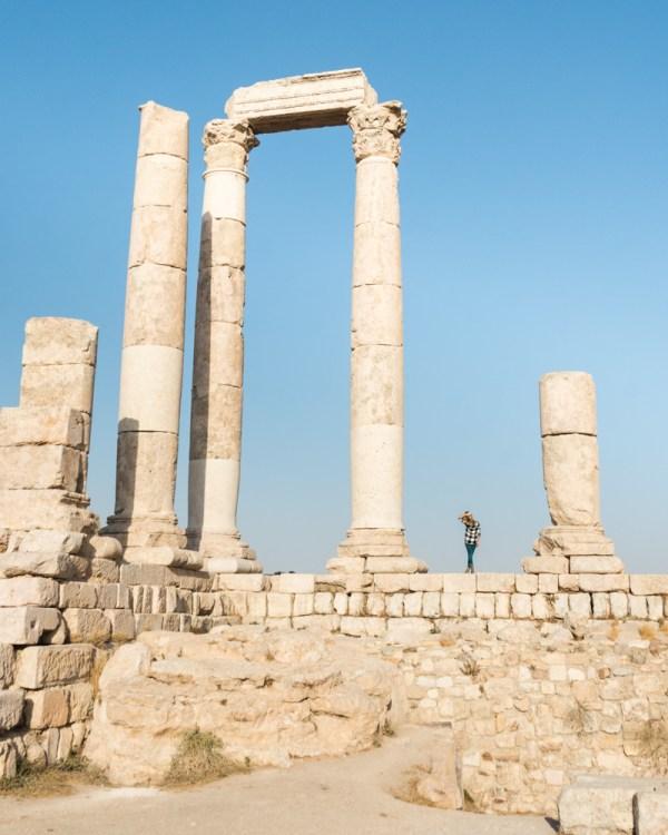 The Temple of Hercules, The Citadel, Amman, Jordan by Wandering Wheatleys