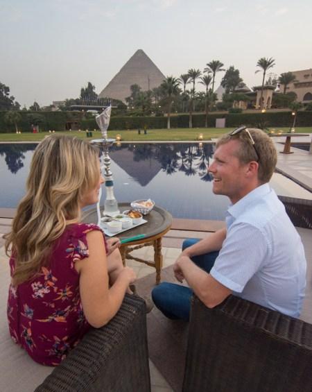 Sunset Hookah at Mena House, Giza, Egypt