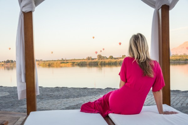 Hot air balloons rising over the Nile, Egypt by Wandering Wheatleys