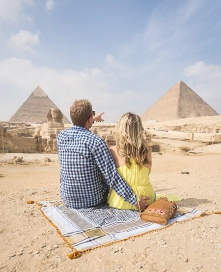Pyramids at Giza, Egypt by Wandering Wheatleys