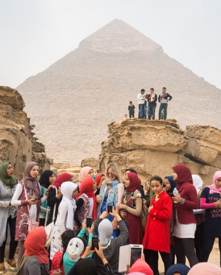 Selfie Mob at the Pyramids, Giza, Egypt by Wandering Wheatleys