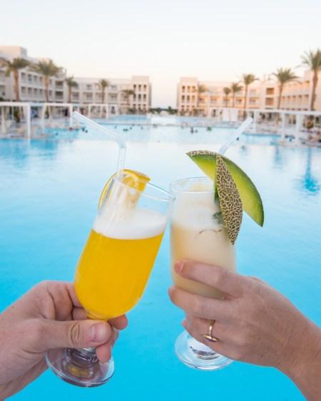 Drinks at the Jaz Aquaviva, Makadi, Egypt by Wandering Wheatleys