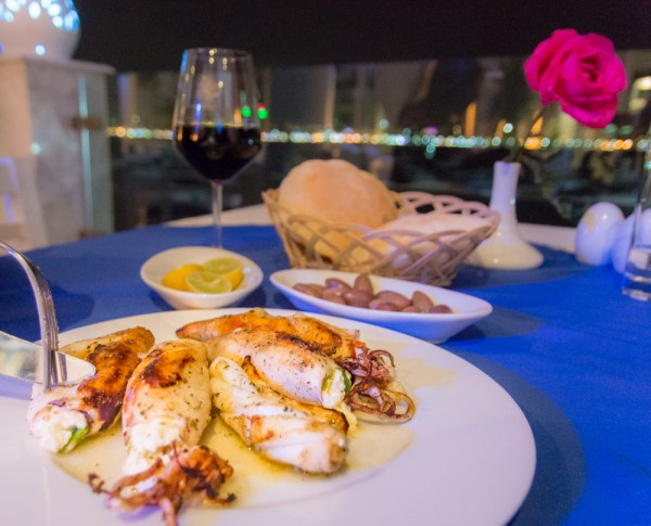 Grilled Calamari at the Greek Club, Alexandria, Egypt by Wandering Wheatleys
