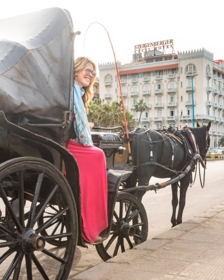 Horse Carriage in Alexandria, Egypt by Wandering Wheatleys