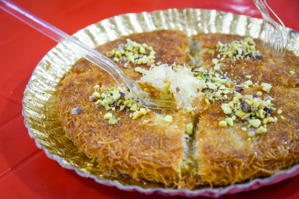 Kunafa at Sweets Syrian Palace, Alexandria, Egypt by Wandering Wheatleys